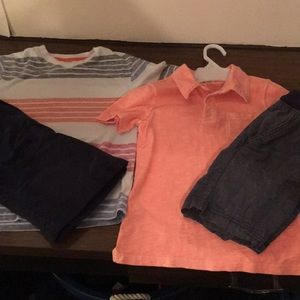 Two sets of boys summer clothing
